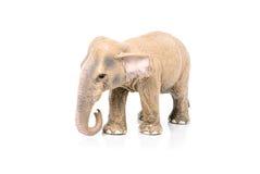 一头大象的缩样在白色背景的 免版税库存图片