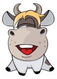一头小母牛 动画片 库存图片