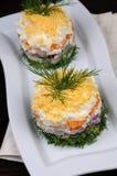 一份庆祝的菜单的开胃菜 库存照片