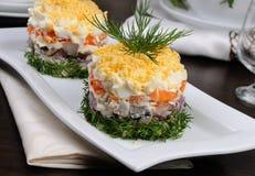 一份庆祝的菜单的开胃菜 免版税图库摄影