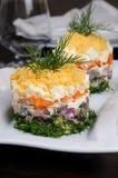 一份庆祝的菜单的开胃菜 免版税库存照片