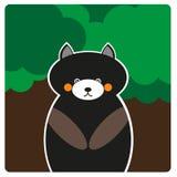一头熊在森林里 免版税库存图片