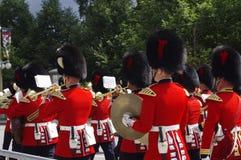 一致的游行乐队的RCMP官员 库存照片