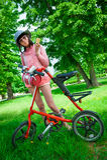一致的自行车行动的天 库存图片