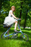 一致的自行车行动的天 免版税库存图片