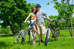 一致的自行车行动的天 免版税库存照片