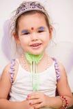 一件神仙的礼服的亚裔女孩 图库摄影