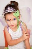 一件神仙的礼服的亚裔女孩 库存照片