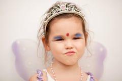 一件神仙的礼服的亚裔女孩 免版税图库摄影