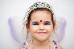 一件神仙的礼服的亚裔女孩 免版税库存图片