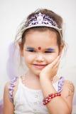 一件神仙的礼服的亚裔女孩 库存图片
