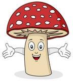 逗人喜爱的蘑菇字符 免版税库存图片