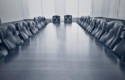 一间空的会议室 图库摄影