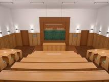 一间空的现代演讲样式大学教室 免版税库存图片