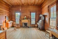 一间老农舍的内部,阿拉巴马 免版税库存照片