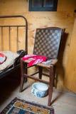 一间老荷兰卧室的细节 免版税库存图片