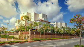 一以色列房子典型的建筑设计  库存照片