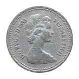 一1英镑硬币的女王/王后 免版税库存照片