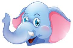 一头蓝色大象 免版税库存照片