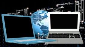 一代计算机科技 免版税库存图片