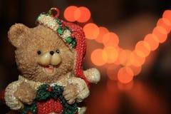 一头逗人喜爱的圣诞节熊 图库摄影