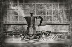 一份闷燃的咖啡 免版税库存照片