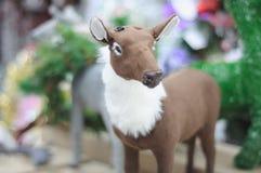 一头驯鹿的软的玩具没有鹿角的 库存图片