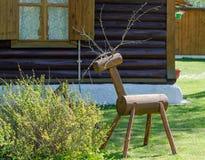 一头鹿的图从木头的 库存图片