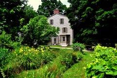 一致, MA :1770 Olde牧师住宅 库存图片