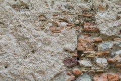 一brickwall的纹理与空间的文本的 库存照片
