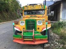 一jeepney在Banaue,菲律宾 免版税库存图片