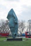 一Nic Fiddian格林的马头雕塑 免版税图库摄影