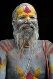 一sadhy在Pashupatinath寺庙在加德满都 免版税图库摄影
