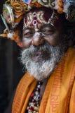 一sadhy在Pashupatinath寺庙在加德满都 库存图片