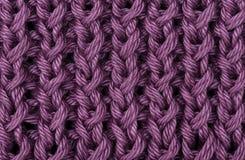 丁香被编织的羊毛纹理 免版税图库摄影