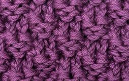 丁香被编织的羊毛纹理 库存图片