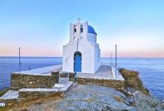 七个受难者教会锡弗诺斯岛希腊 免版税库存图片