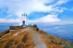 七个受难者教会锡弗诺斯岛希腊 免版税图库摄影