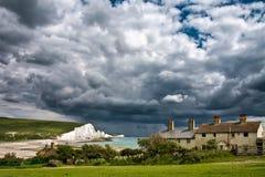 七个姐妹国家公园,东部SUSSEX/UK - 6月12日:风暴bre 免版税库存图片
