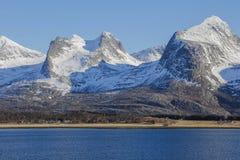 七个姐妹山脉 库存照片