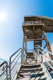 七个姐妹楼梯fisheye 免版税图库摄影