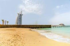 七个星豪华旅馆Burj Al阿拉伯人在迪拜,团结的酋长管辖区 免版税库存照片