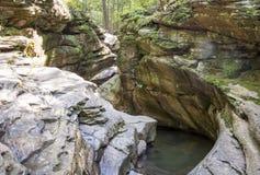 七个木盆岩石峡谷 库存图片