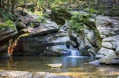 七个木盆瀑布峡谷 图库摄影