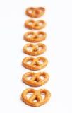 七个椒盐脆饼连续 免版税库存图片