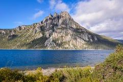 七个湖,阿根廷的路 库存图片