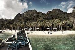 七个特攻队海滩在巴拉望岛菲律宾 免版税库存图片