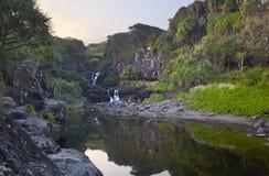 七个神圣的水池,毛伊,夏威夷 免版税库存照片