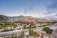 七个颜色小山在Jujuy,阿根廷。 免版税库存图片
