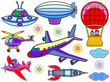 七个飞行器 库存图片